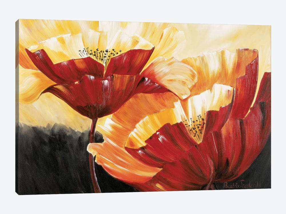 The Three Poppies by Beatrix Frederiks 1-piece Canvas Print