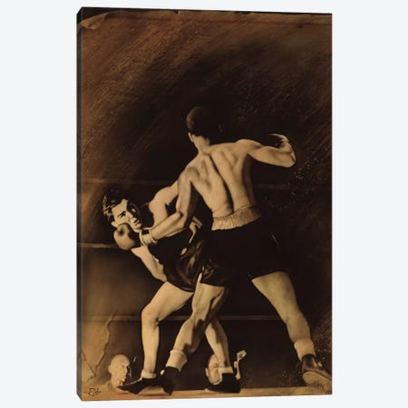 The Boxing Match Canvas Print #RJN1} by Rob Johnson Art Print