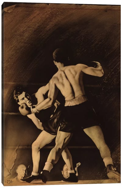 The Boxing Match Canvas Art Print