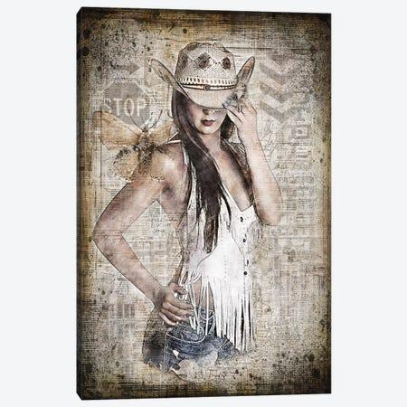 Cowgirl Canvas Print #RJO13} by Robin Jorgensen Art Print