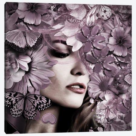 Pink Flower Girl Canvas Print #RJO23} by Robin Jorgensen Canvas Wall Art