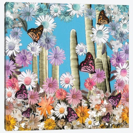 Cactus Flower Canvas Print #RJO37} by Robin Jorgensen Canvas Wall Art