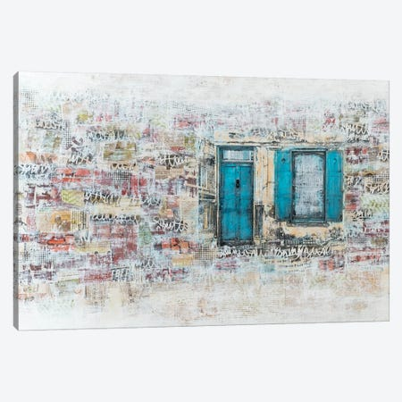Blue Door Canvas Print #RJO3} by Robin Jorgensen Canvas Artwork
