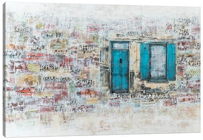 Blue Door Canvas Art Print