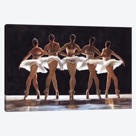 Ballet Dancer CXXVI Swan Lake Canvas Print #RJR100} by REME Jr Art Print