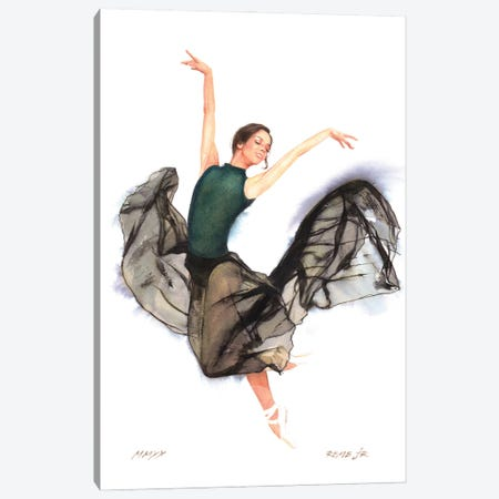Ballet Dancer XCIV Canvas Print #RJR117} by REME Jr Canvas Print