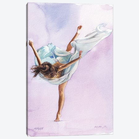 Ballet Dancer LVIII Canvas Print #RJR121} by REME Jr Canvas Print