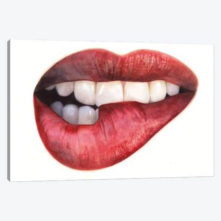 Lips I Canvas Print #RJR43} by REME Jr Canvas Print