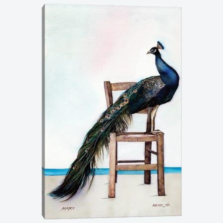 Peacock II Canvas Print #RJR50} by REME Jr Canvas Artwork