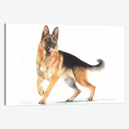 German Shepherd II Canvas Print #RJR78} by REME Jr Canvas Artwork