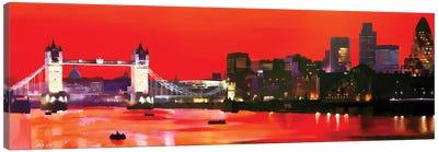 London Sunset Canvas Art Print