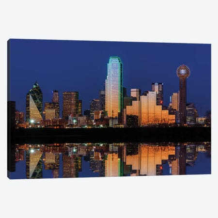 Dallas Aglow Canvas Print #RKB11} by Rick Berk Art Print