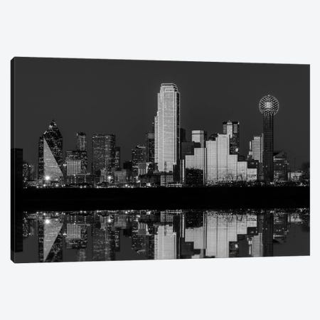 Dallas Aglow Black And White Canvas Print #RKB12} by Rick Berk Art Print
