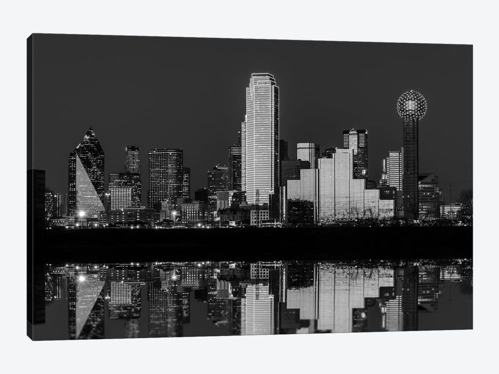 Dallas Aglow Black And White by Rick Berk 1-piece Canvas Art