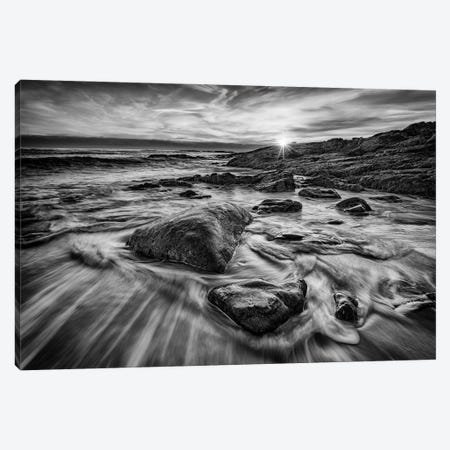 December Sunrise In Ogunquit Black And White Canvas Print #RKB13} by Rick Berk Art Print