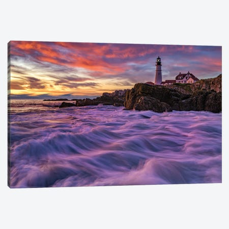 Late Summer Morn At Portland Head Canvas Print #RKB17} by Rick Berk Canvas Art