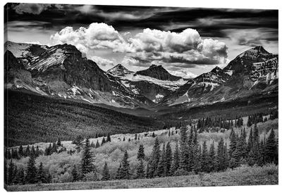 Mountains Majesty Black And White Canvas Art Print