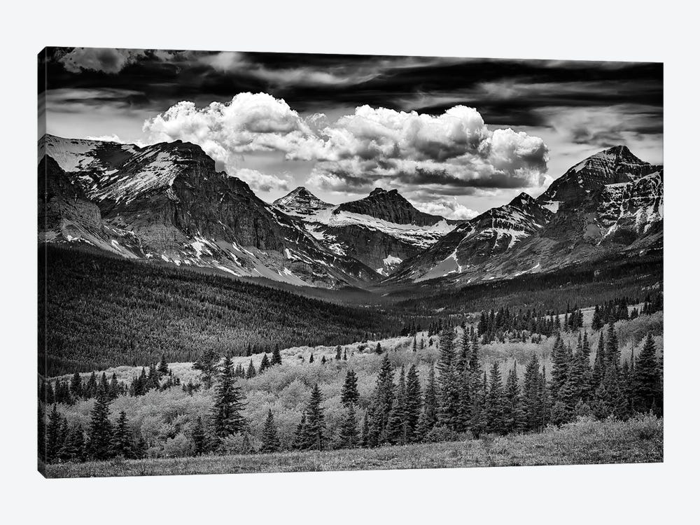 Mountains Majesty Black And White by Rick Berk 1-piece Canvas Art