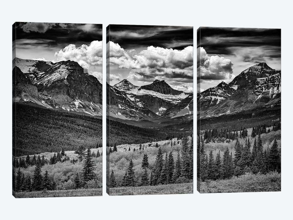 Mountains Majesty Black And White by Rick Berk 3-piece Canvas Wall Art