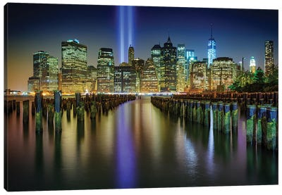 Nyc Tribute Lights Canvas Art Print