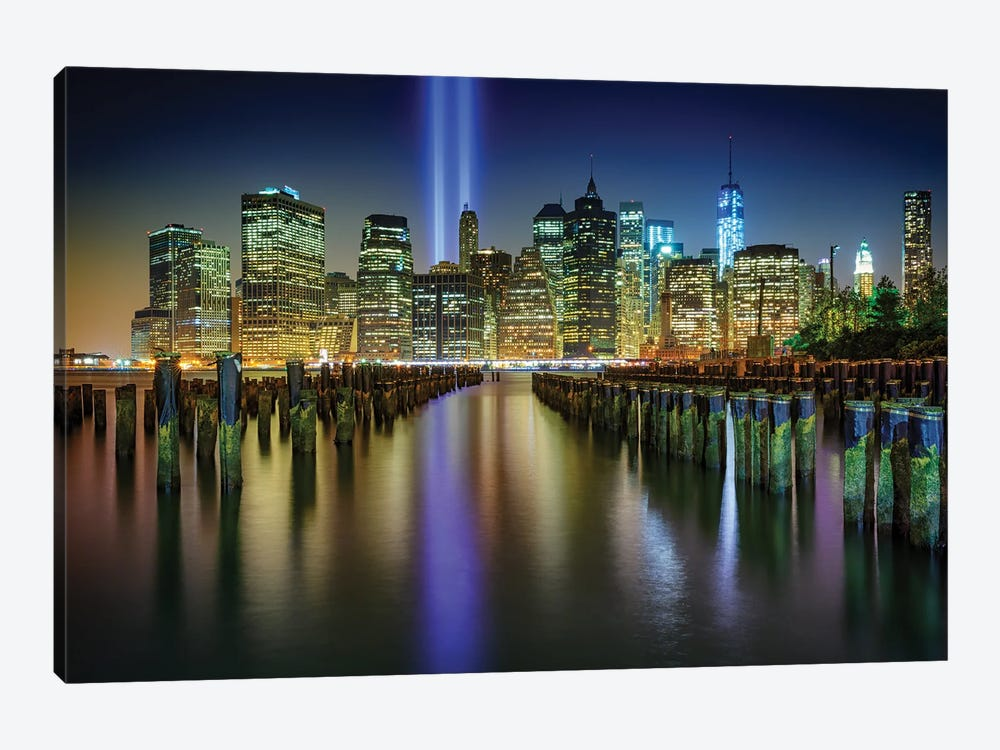 Nyc Tribute Lights by Rick Berk 1-piece Canvas Art Print
