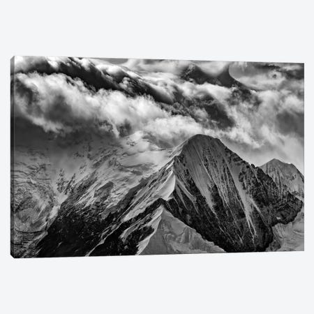 A Peak In The Clouds Black And White Canvas Print #RKB2} by Rick Berk Canvas Wall Art