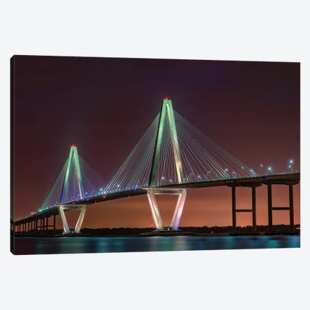 Ravenel Bridge Twilight Canvas Print #RKB31} by Rick Berk Canvas Print