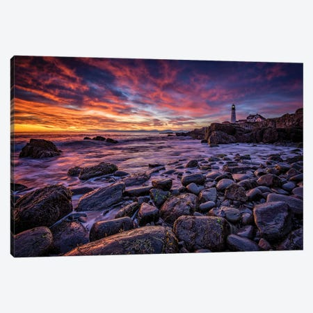 Red Skies In Morning Canvas Print #RKB32} by Rick Berk Canvas Print