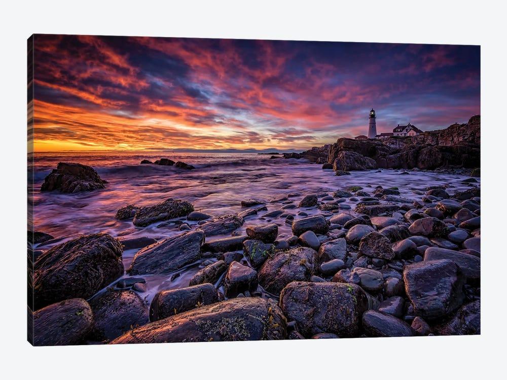 Red Skies In Morning by Rick Berk 1-piece Canvas Artwork