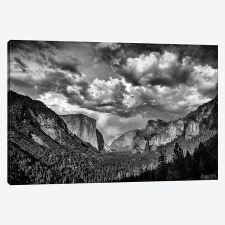 Spring Storm Over Yosemite Black And White Canvas Print #RKB35} by Rick Berk Canvas Artwork
