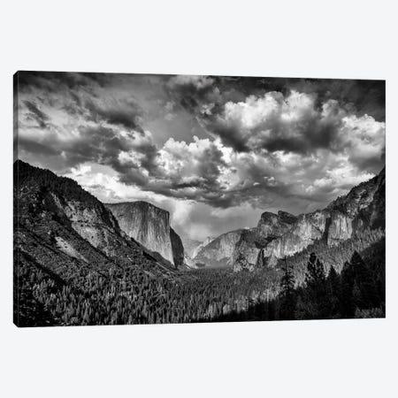 Spring Storm Over Yosemite Black And White Canvas Print #RKB35} by Rick Berk Canvas Artwork