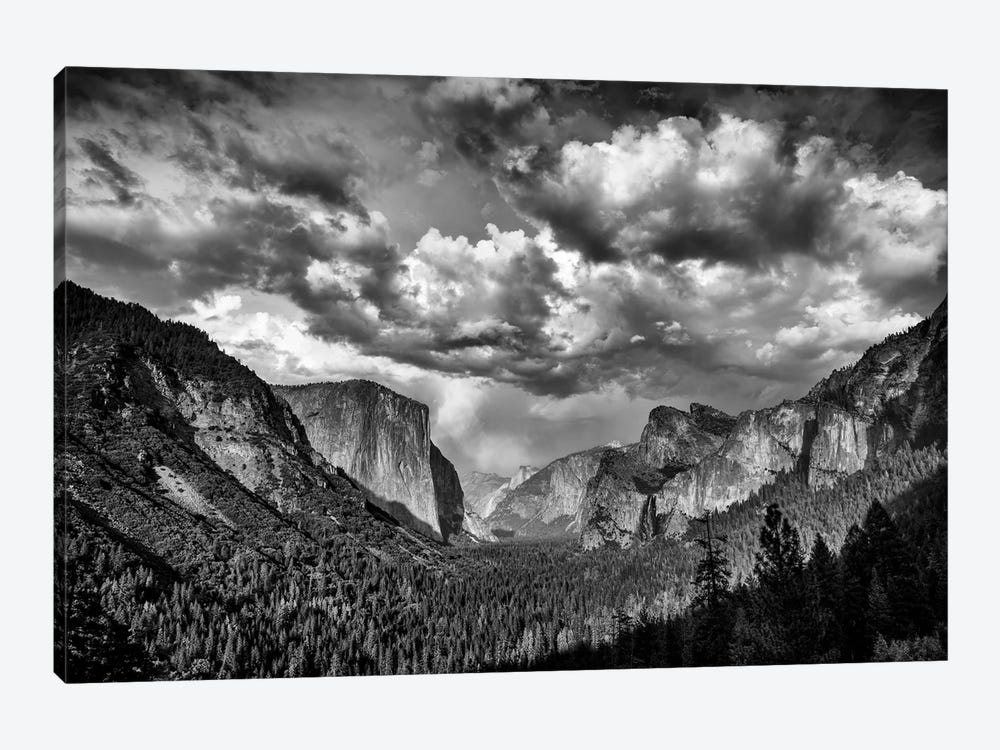 Spring Storm Over Yosemite Black And White by Rick Berk 1-piece Canvas Art Print
