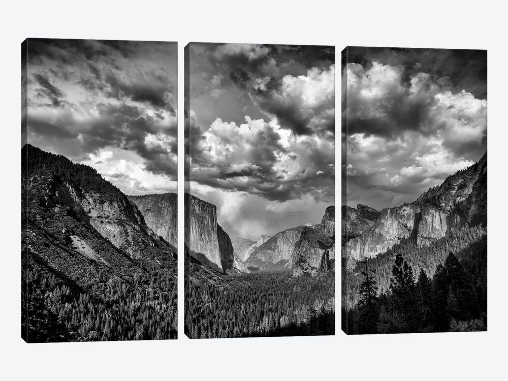 Spring Storm Over Yosemite Black And White by Rick Berk 3-piece Art Print