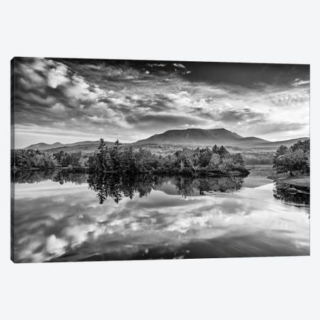 Sunrise On Mount Katahdin Black And White Canvas Print #RKB37} by Rick Berk Canvas Wall Art
