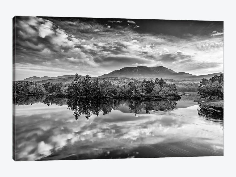 Sunrise On Mount Katahdin Black And White by Rick Berk 1-piece Canvas Art Print