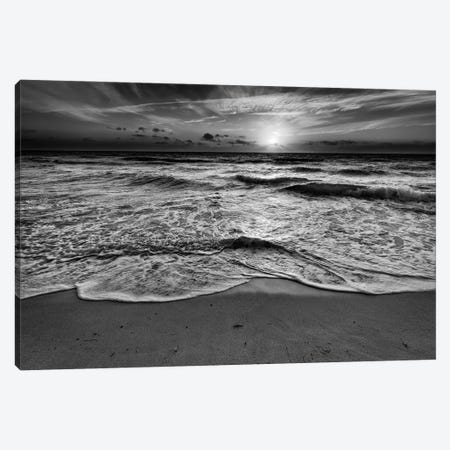 Sunrise On South Beach Black And White Canvas Print #RKB38} by Rick Berk Art Print