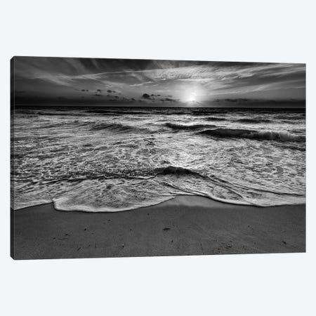 Sunrise On South Beach Black And White Canvas Print #RKB38} by Rick Berk Art Print