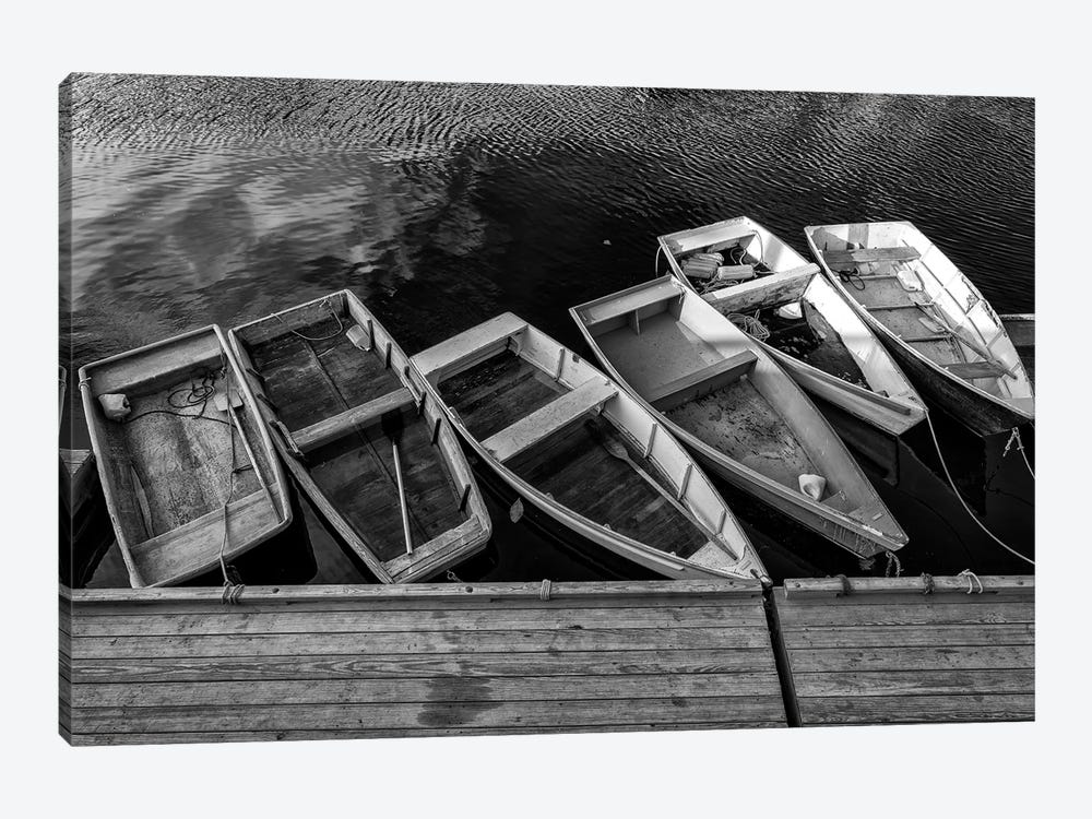 The Green Dory Black And White by Rick Berk 1-piece Canvas Art
