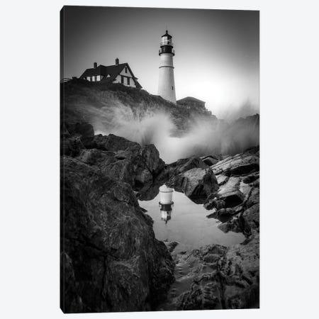 Tidal Reflections Black And White Canvas Print #RKB45} by Rick Berk Art Print