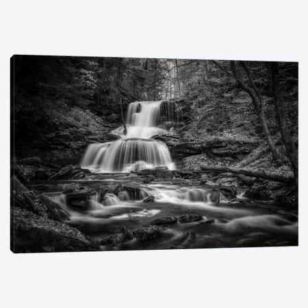 Tuscarora Falls Black And White Canvas Print #RKB46} by Rick Berk Art Print