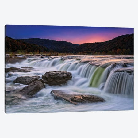 Twilight At Sandstone Falls Canvas Print #RKB47} by Rick Berk Art Print
