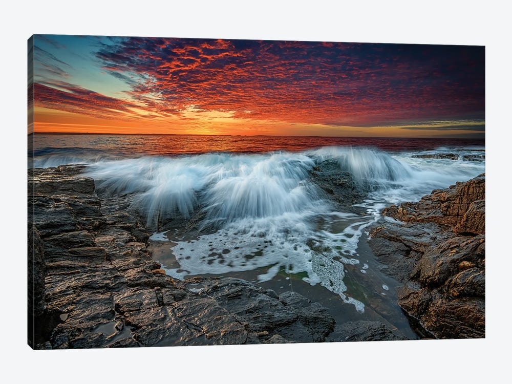 Waves Crash At Daybreak by Rick Berk 1-piece Art Print