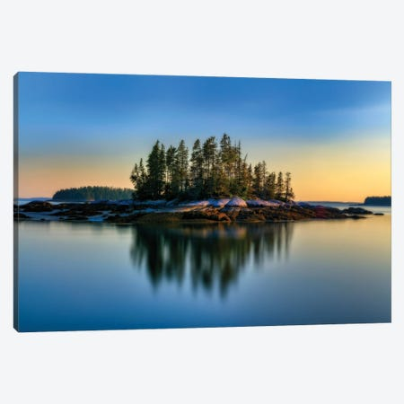 Weir Island Maine Glow Canvas Print #RKB49} by Rick Berk Canvas Art