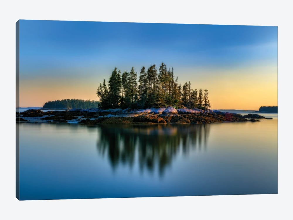 Weir Island Maine Glow by Rick Berk 1-piece Canvas Wall Art