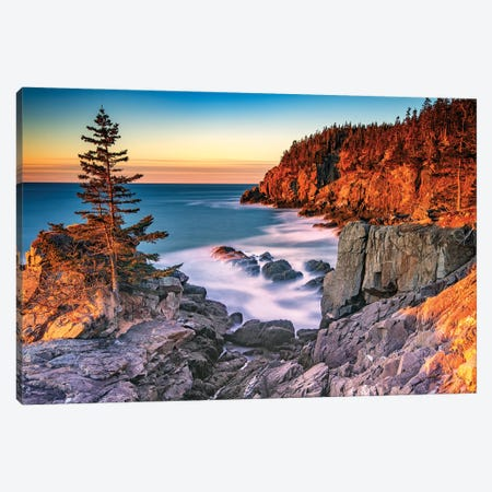 Winter Dawn At Quoddy Head Canvas Print #RKB51} by Rick Berk Canvas Art Print