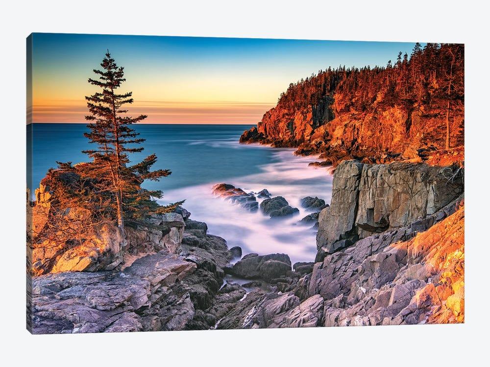 Winter Dawn At Quoddy Head by Rick Berk 1-piece Canvas Print