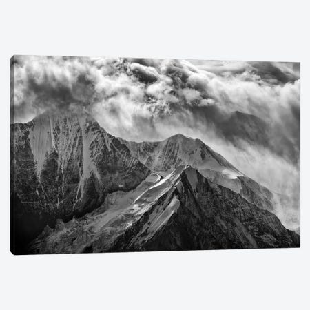 Alaskan Splendor Black And White Canvas Print #RKB5} by Rick Berk Canvas Print