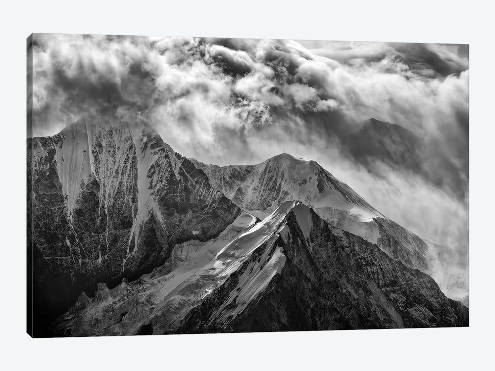 Alaskan Splendor Black And White by Rick Berk 1-piece Canvas Art Print