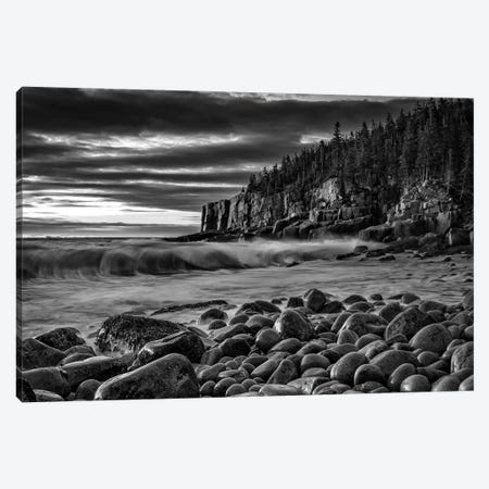 Boulder Beach Dawn Black And White Canvas Print #RKB9} by Rick Berk Canvas Artwork