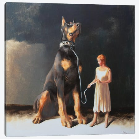 Protectress Canvas Print #RKO25} by Rudolf Kosow Canvas Artwork